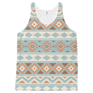 Aztec Essence Ptn IIIb Blue Cream Terracottas All-Over-Print Tank Top