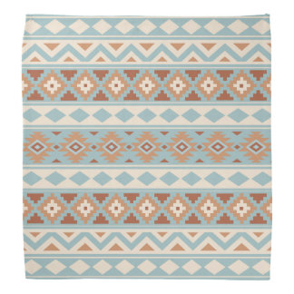 Aztec Essence Ptn IIIb Blue Cream Terracottas Bandana