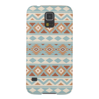 Aztec Essence Ptn IIIb Blue Cream Terracottas Cases For Galaxy S5