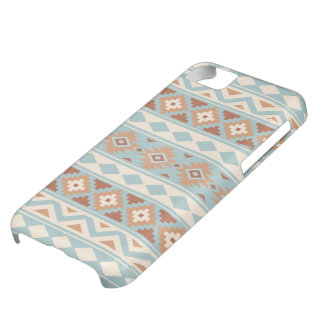 Aztec Essence Ptn IIIb Blue Cream Terracottas Cover For iPhone 5C