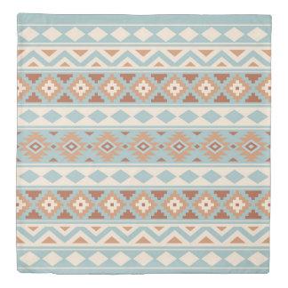 Aztec Essence Ptn IIIb Blue Cream Terracottas Duvet Cover