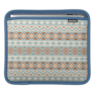 Aztec Essence Ptn IIIb Blue Cream Terracottas iPad Sleeve