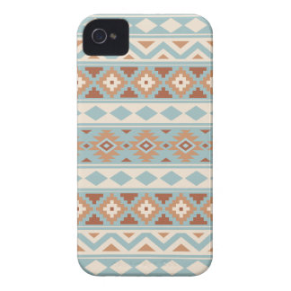 Aztec Essence Ptn IIIb Blue Cream Terracottas iPhone 4 Case-Mate Cases
