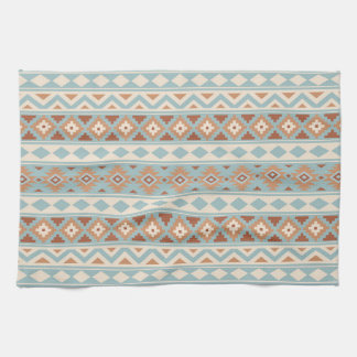 Aztec Essence Ptn IIIb Blue Cream Terracottas Kitchen Towel
