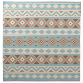 Aztec Essence Ptn IIIb Blue Cream Terracottas Napkin