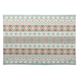 Aztec Essence Ptn IIIb Blue Cream Terracottas Placemat
