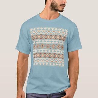 Aztec Essence Ptn IIIb Blue Cream Terracottas T-Shirt