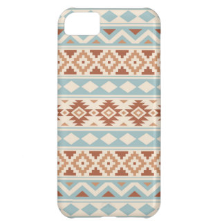 Aztec Essence Ptn IIIb Cream Blue Terracottas Cover For iPhone 5C