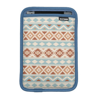 Aztec Essence Ptn IIIb Cream Blue Terracottas iPad Mini Sleeve
