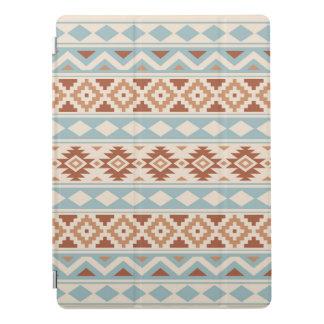Aztec Essence Ptn IIIb Cream Blue Terracottas iPad Pro Cover