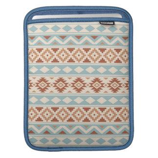 Aztec Essence Ptn IIIb Cream Blue Terracottas iPad Sleeve