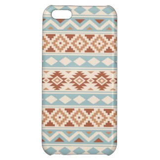Aztec Essence Ptn IIIb Cream Blue Terracottas iPhone 5C Cases