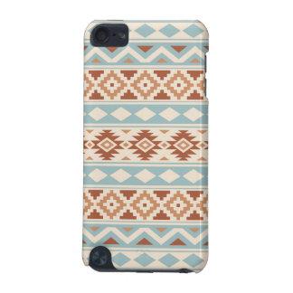 Aztec Essence Ptn IIIb Cream Blue Terracottas iPod Touch 5G Cover