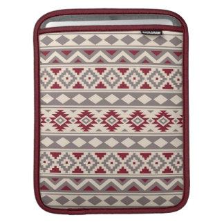 Aztec Essence Ptn IIIb Cream Taupe Red iPad Sleeve