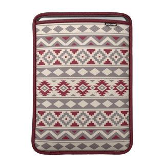 Aztec Essence Ptn IIIb Cream Taupe Red MacBook Sleeve
