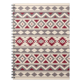 Aztec Essence Ptn IIIb Cream Taupe Red Notebook