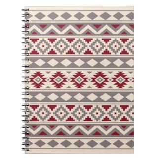 Aztec Essence Ptn IIIb Cream Taupe Red Notebooks