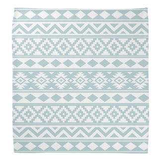 Aztec Essence Ptn IIIb Duck Egg Blue & White Bandana