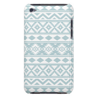 Aztec Essence Ptn IIIb Duck Egg Blue & White Barely There iPod Cover