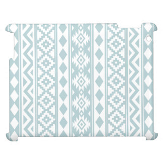 Aztec Essence Ptn IIIb Duck Egg Blue & White Cover For The iPad