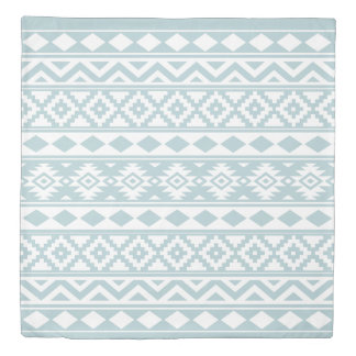 Aztec Essence Ptn IIIb Duck Egg Blue & White Duvet Cover