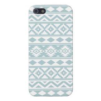 Aztec Essence Ptn IIIb Duck Egg Blue & White iPhone 5/5S Cover