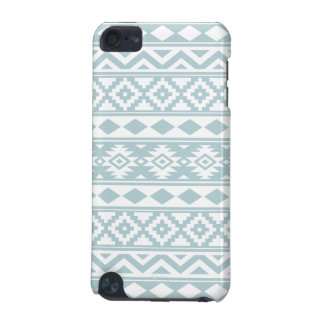 Aztec Essence Ptn IIIb Duck Egg Blue & White iPod Touch (5th Generation) Covers