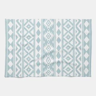 Aztec Essence Ptn IIIb Duck Egg Blue & White Kitchen Towel