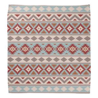 Aztec Essence Ptn IIIb Taupe Blue Crm Terracottas Bandana