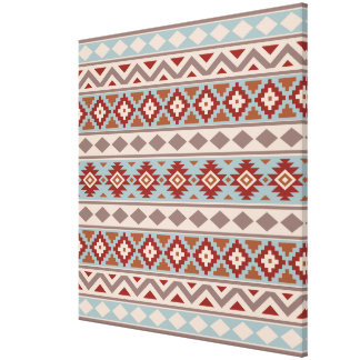 Aztec Essence Ptn IIIb Taupe Blue Crm Terracottas Canvas Print