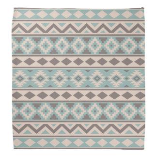 Aztec Essence Ptn IIIb Taupe Teal Cream Bandana