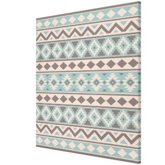 Aztec Essence Ptn IIIb Taupe Teal Cream Canvas Print