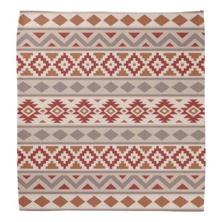 Aztec Essence Ptn IIIb Taupes Creams Terracottas Bandana