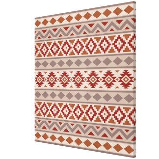 Aztec Essence Ptn IIIb Taupes Creams Terracottas Canvas Print