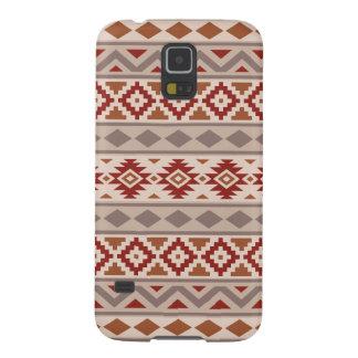 Aztec Essence Ptn IIIb Taupes Creams Terracottas Galaxy S5 Cover