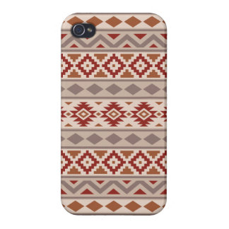 Aztec Essence Ptn IIIb Taupes Creams Terracottas iPhone 4 Cover
