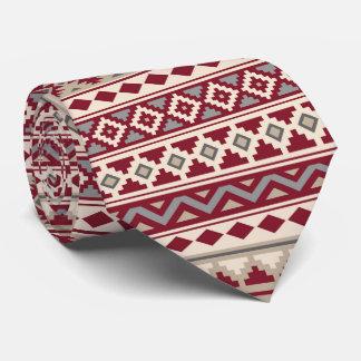 Aztec Essence Rpt Ptn IIb Red Grays Cream Sand Tie