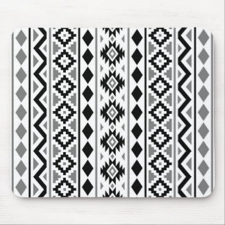 Aztec Essence (V) Pattern III Black White Gray Mouse Pad