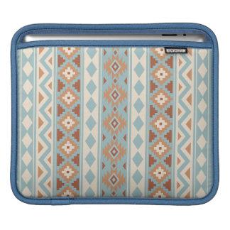 Aztec Essence V Ptn IIIb Blue Cream Terracottas iPad Sleeve