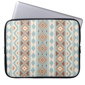 Aztec Essence V Ptn IIIb Blue Cream Terracottas Laptop Sleeve