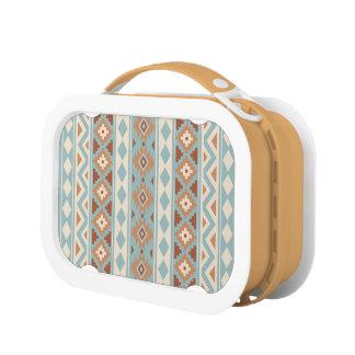 Aztec Essence V Ptn IIIb Blue Cream Terracottas Lunch Box