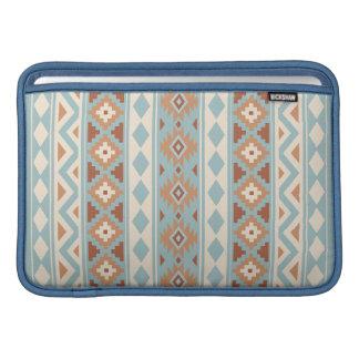 Aztec Essence V Ptn IIIb Blue Cream Terracottas MacBook Sleeve