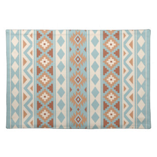 Aztec Essence V Ptn IIIb Blue Cream Terracottas Placemat