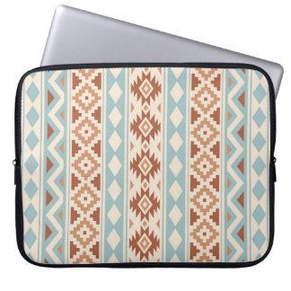 Aztec Essence V Ptn IIIb Cream Blue Terracottas Laptop Sleeve