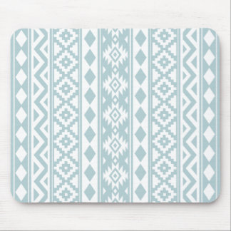 Aztec Essence V Ptn IIIb Duck Egg Blue & White Mouse Pad