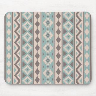 Aztec Essence V Ptn IIIb Taupe Teal Cream Mouse Pad
