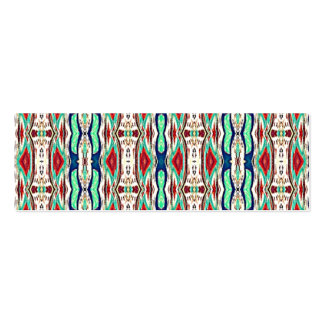 Aztec Fabric. Tribal Pattern. Native American Business Card Template