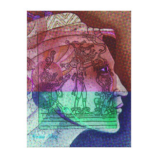 Aztec futuristic fantasy canvas print
