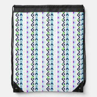 Aztec Girl Drawstring Bag