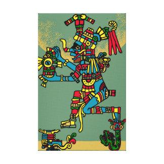 Aztec God Canvas Print